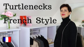 How French Women Style Black Turtlenecks, video by Marie-Anne Lecoeur