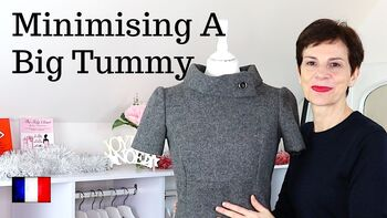 Video - How to Hide a Big Tummy With a shift Dress